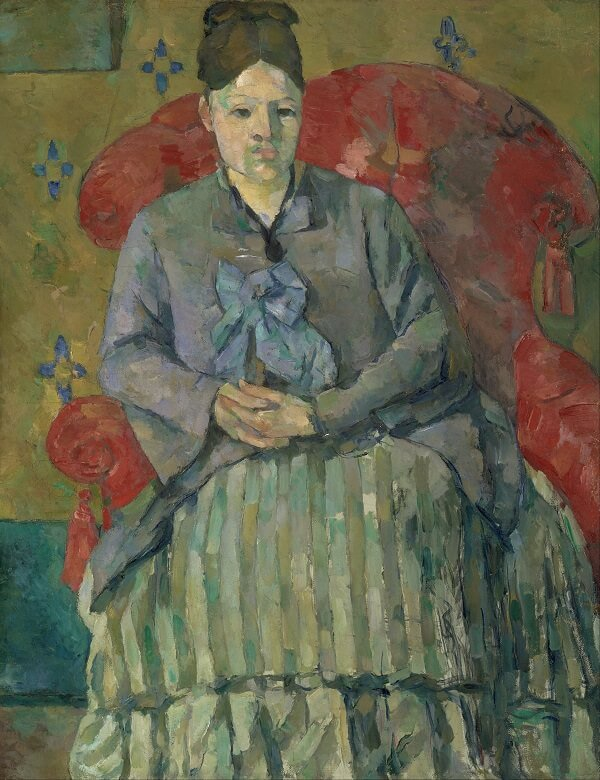 Madame cezanne in a red armchair - by Paul Cezanne