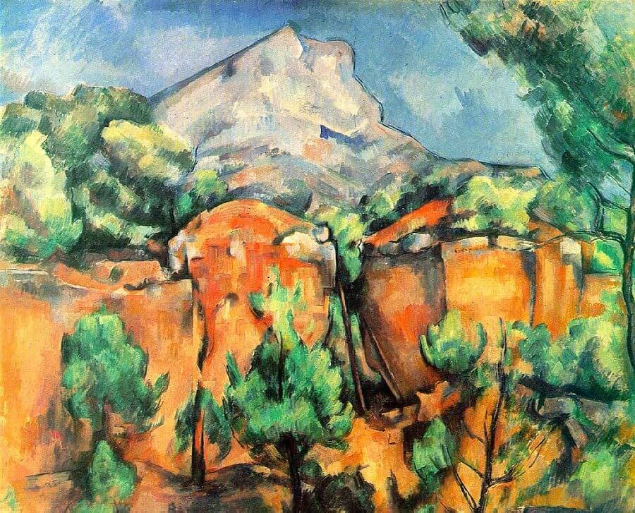 Mont Sainte-Victoire seen from the Bibemus Quarry, 1897 by Paul Cezanne