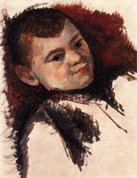 Portrait of the artist son - by Paul Cezanne
