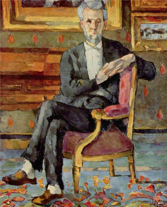Portrait of Victor Chocquet, Seated, 1877 - by Paul Cezanne