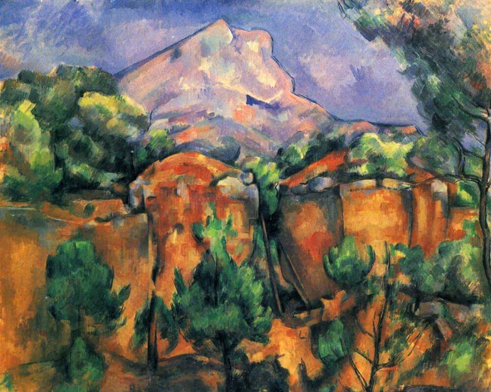 Quarry and Mont Sainte-Victoire, 1900 by Paul Cezanne