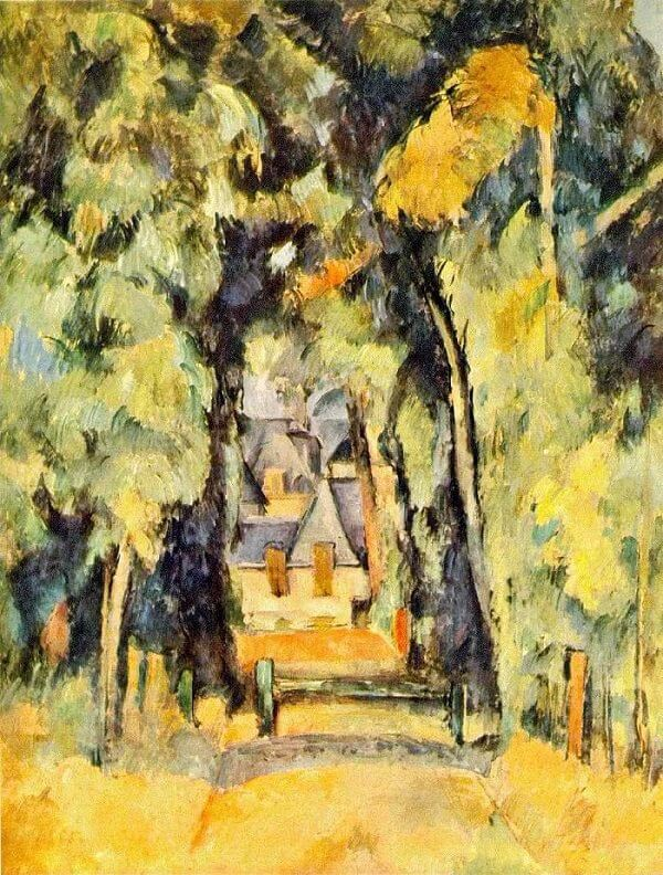 Road at Chantilly, 1888 by Paul Cezanne