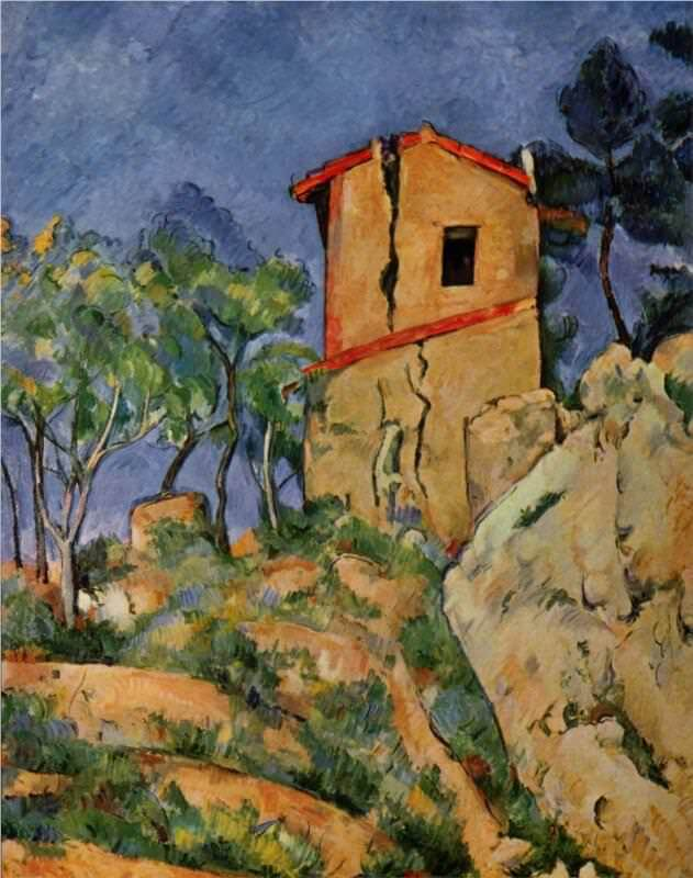 The House with the Cracked Walls, 1892 - by Paul Cezanne