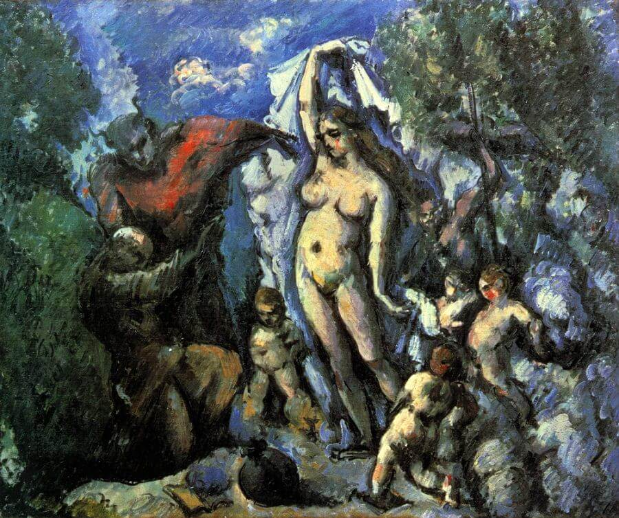 The Temptation of St. Anthony, 1887 - by Paul Cezanne